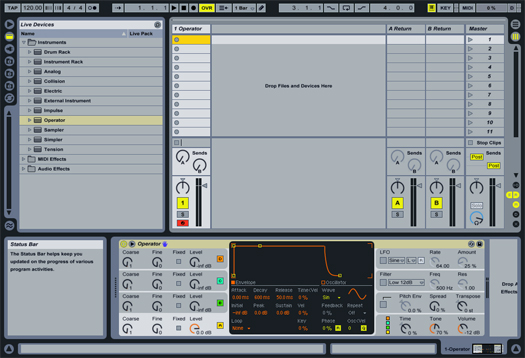 Create A TB303 Replica In Ableton With Operator - Sound Design Tips