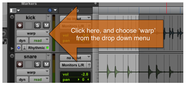 Pro Tools Elastic Audio - 4 Steps to Elastic Audio in Pro Tools