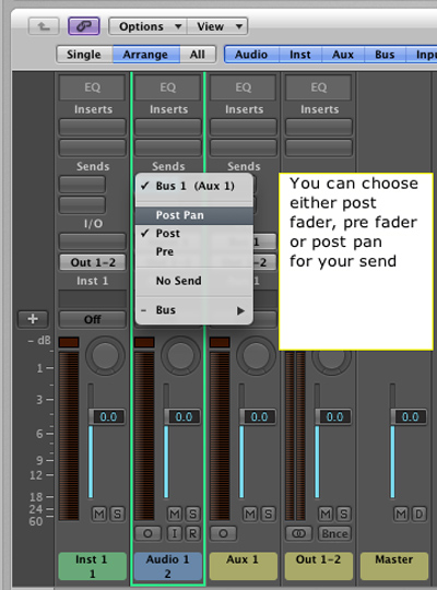 Pre and Post Fader Effects Tutorial
