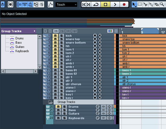 Be Organized Before Mixing With Cubase