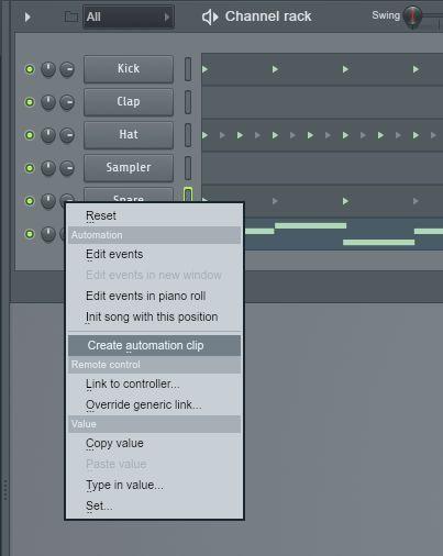 record automation clip fl studio