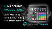 Maschinecourses machine routing audio and midi in logic
