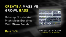 Massive synth create dubstep growl bass part1