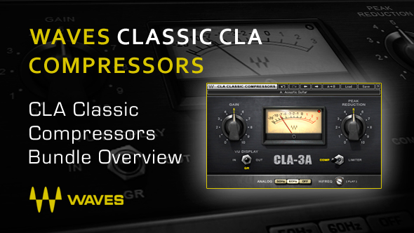 Waves cla classic compressors plug-in bundle for academic.
