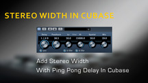Stereo widening in cubase using the ping pong delay
