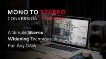 Studio tips stereo widening technique