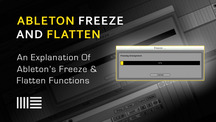 Ableton freeze and flatten edited