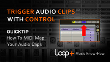 Quicktips how to midi map audio clips