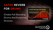 Quantize courses gated reverb for drums tutorial