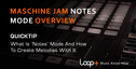 Quicktips maschinejam notes mode overview