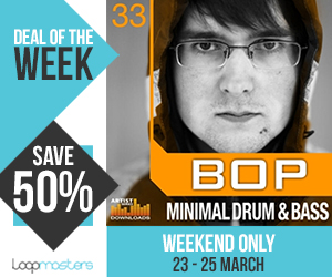 Dotw bop minimal drum and bass 300x250
