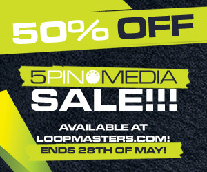 Loopmasters 5pin media 50 percent off samples sounds 300 250