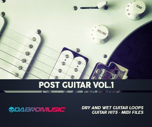 Loopmasters dabromusic post guitar vol1 300x250