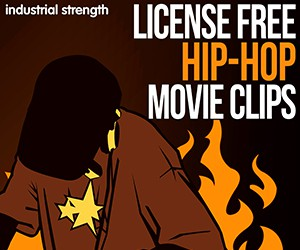 Loopmasters 5 license free movie clips hip hop crackels hiss muisc clips noise clips fx lofi drums atmos 300 x 250