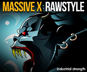 Loopmasters 5 massive x rawstyle presets audio kick drums loops one shots leads screeches melodies 300 x 250