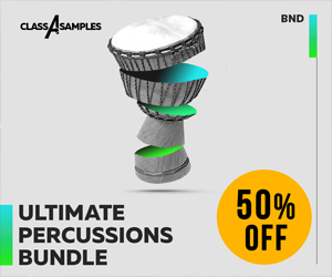Loopmasters class a samples ultimate percussions bundle 50 off 300 250