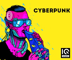 Loopmasters iq samples   cyberpunk   300x250   cover
