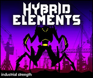 Loopmasters 5 hybrid elements hard techno  isr loop kits  loops  one shots  drums  midi  sound effects  ebm 300 x 250
