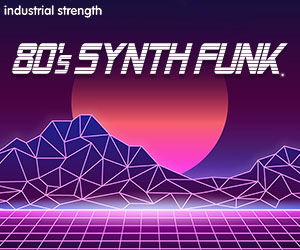 Loopmasters 5 synth funk disco production kits eighties retro drums synths midi 300 x 250