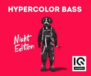 Loopmasters iq samples   hypercolor bass   night edititon   cover 300x250