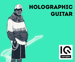 Loopmasters iq samples   holographic guitar   cover   300x250