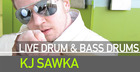 Live Drum And Bass Drums - K J Sawka