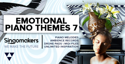 Singomakers emotional piano themes 7 drone pads midi files ambience records piano melodies unlimited inspiration  1000 512