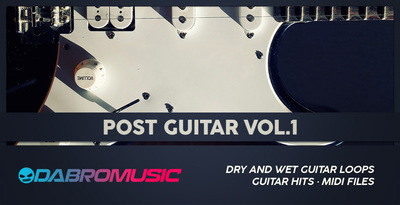 Dabromusic post guitar vol1 samples loops royalty free 512 web