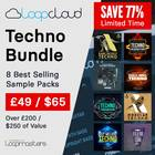 1000x1000 loopcloud techno bundle banners